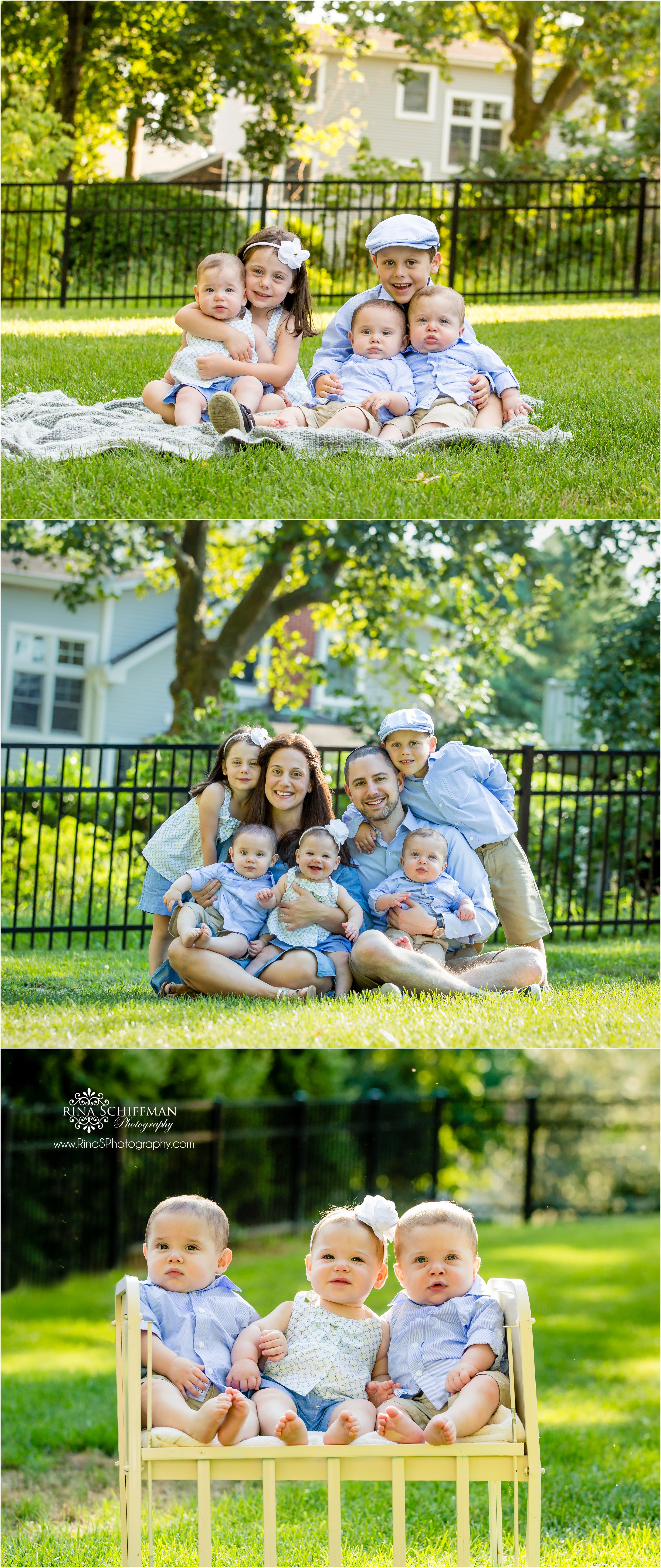 twins and triplets portraits NY family Photographer